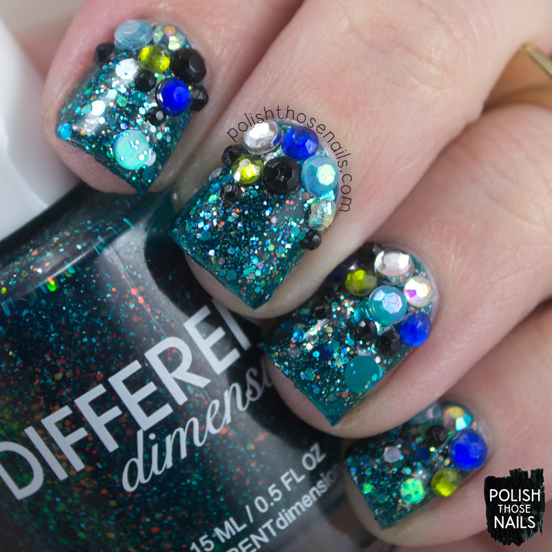 3D Bling Bling Nebulas nail art by Marisa  Cavanaugh