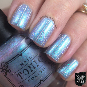 Icy blue shimmer line nail art 4 thumb370f