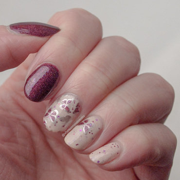 Glittery butterflies nail art by What's on my nails today?