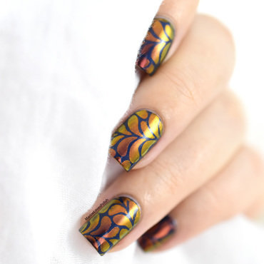 Whats up nails sunset powder floral splash stencils nail art 20 4  thumb370f