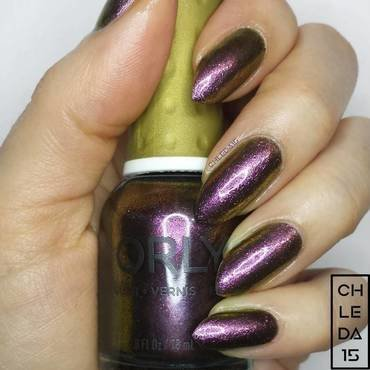 "Orly 20888 ""Brilliant Boysenberry"" Swatch nail art by chleda15"