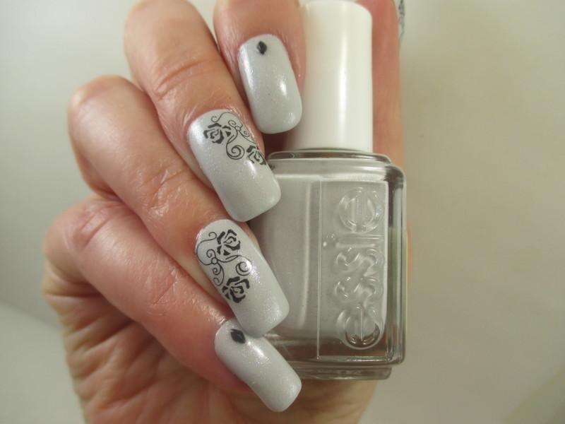 Touch of Grey nail art by NinaB