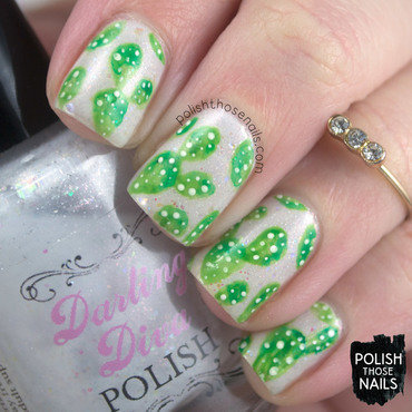 White glitter watercolor green cacti nail art 4 thumb370f