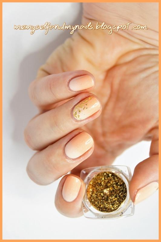 Peachy nail art by ELIZA OK-W