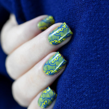 Wax Print nail art by Marine Loves Polish