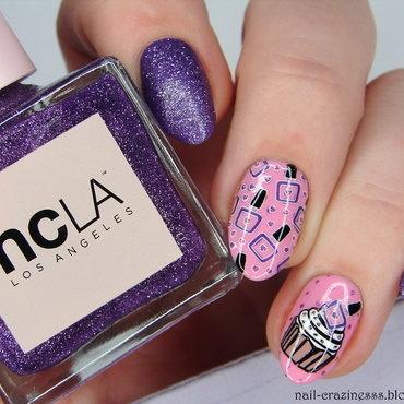 1st blogiversary nail art by Nail Crazinesss