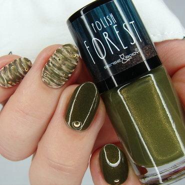 Khaki nail art by Nail Crazinesss