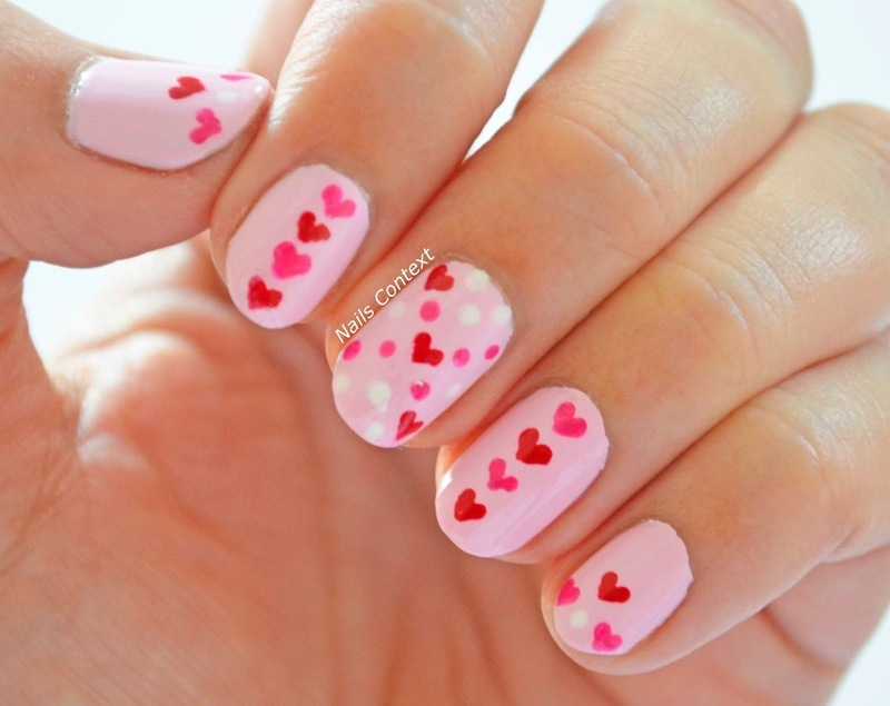 Love Is In the Air  nail art by NailsContext