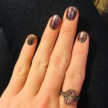 Milky Way  nail art by MJ