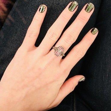 Evil Green nail art by MJ