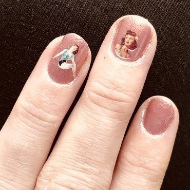 Pin Up Girls  nail art by MJ