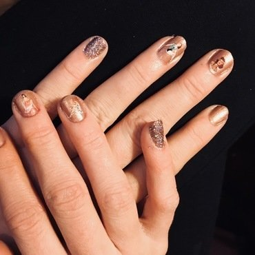 Nude/Decals  nail art by MJ