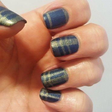 Jeans nail art by Katarinna
