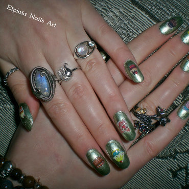 I love Sweets nail art by Elpiola Lluka