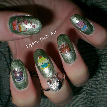I love Sweets nail art by Elpiola Lluka