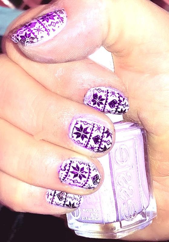Winter nail art by FRANCESCA SPORTELLA