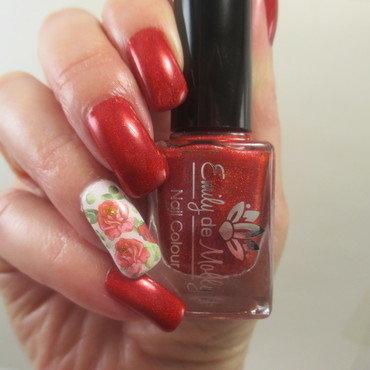 Valentine Roses nail art by NinaB