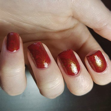 Steampunk hearts for valentine's nail art by Emmelie Slotboom