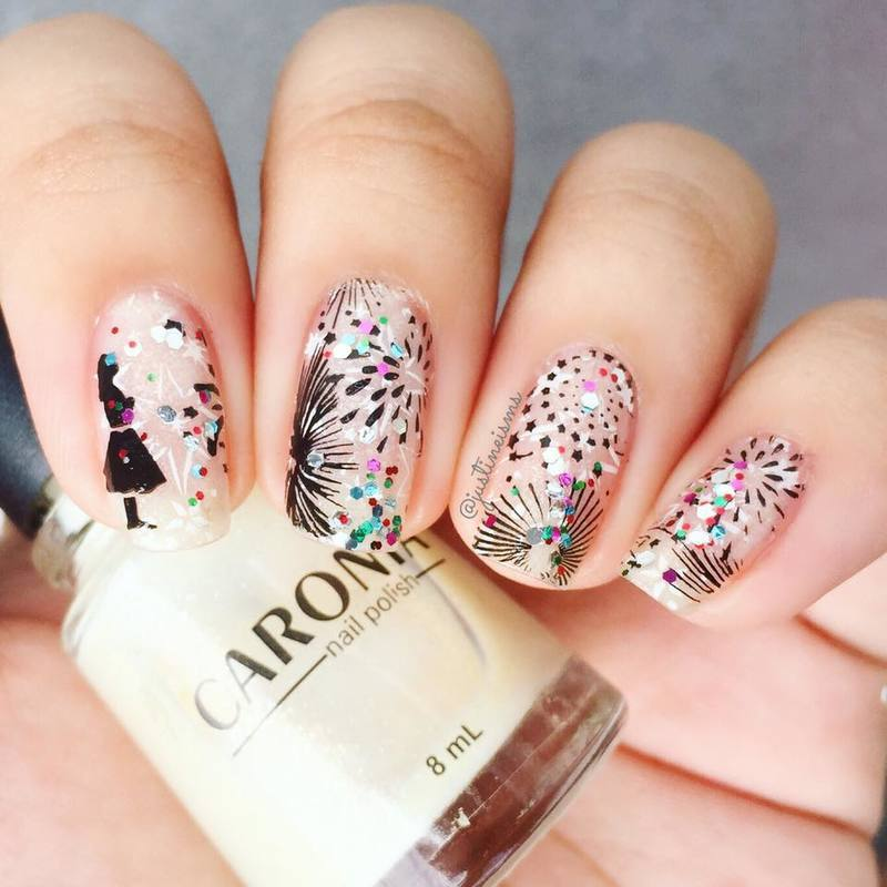 2018 nail art by ℐustine
