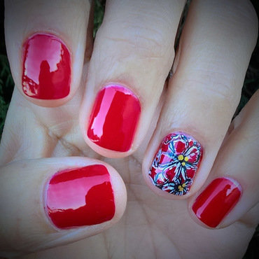 Go Red for Women Awareness Day nail art by Avesur Europa