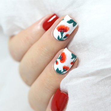 Easy floral nail art tutorial for valentine s day free hand 20 5  thumb370f