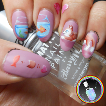 Opposites Attract nail art by Ithfifi Williams