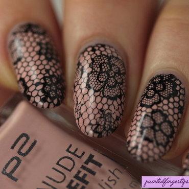 Angled lacy nail art thumb370f