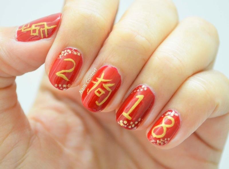 Chinese New Year  nail art by NailsContext
