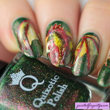 Dragon freehand nails thumb370f