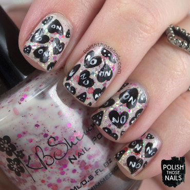 How About No Hearts? nail art by Marisa  Cavanaugh