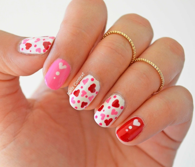 Valentines Day 2018 nail art by NailsContext