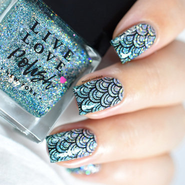 Mermaid nail art live love polish bottoms up collection sugar bubbles stamping 20 4  thumb370f