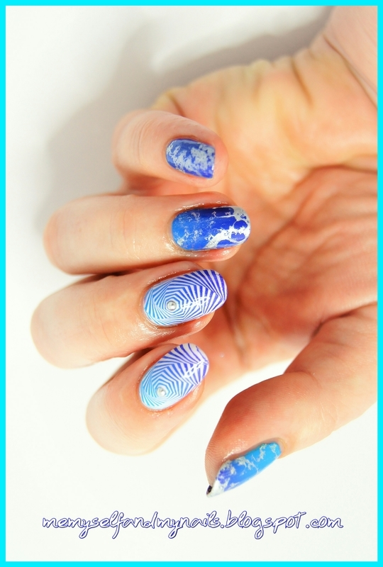 Whirls nail art by ELIZA OK-W