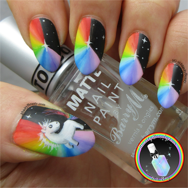 Freehand Rainbow Prism's & Unicorn nail art by Ithfifi Williams