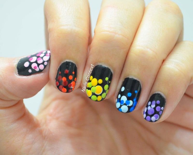 Colorful Holi Nails  nail art by NailsContext