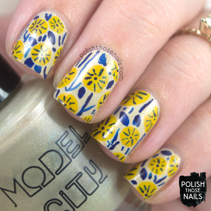 My Florals Are Shimmering & Buff nail art by Marisa  Cavanaugh