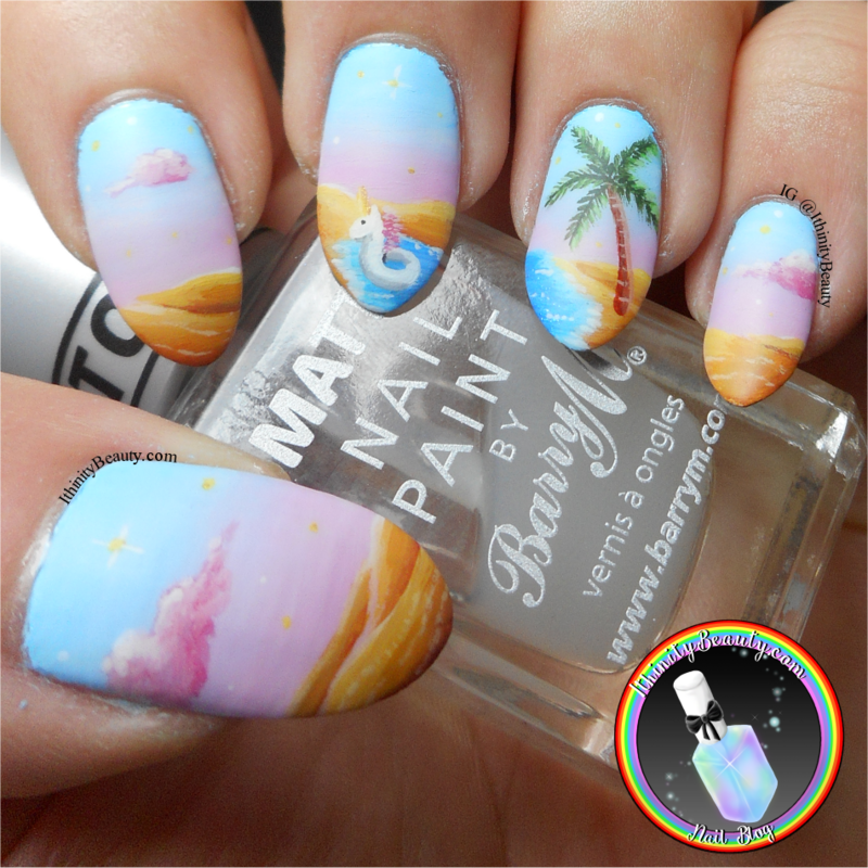 Tropical Oasis nail art by Ithfifi Williams
