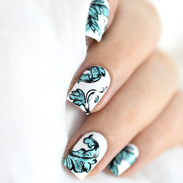 Layered Stamping Tutorial nail art by Marine Loves Polish