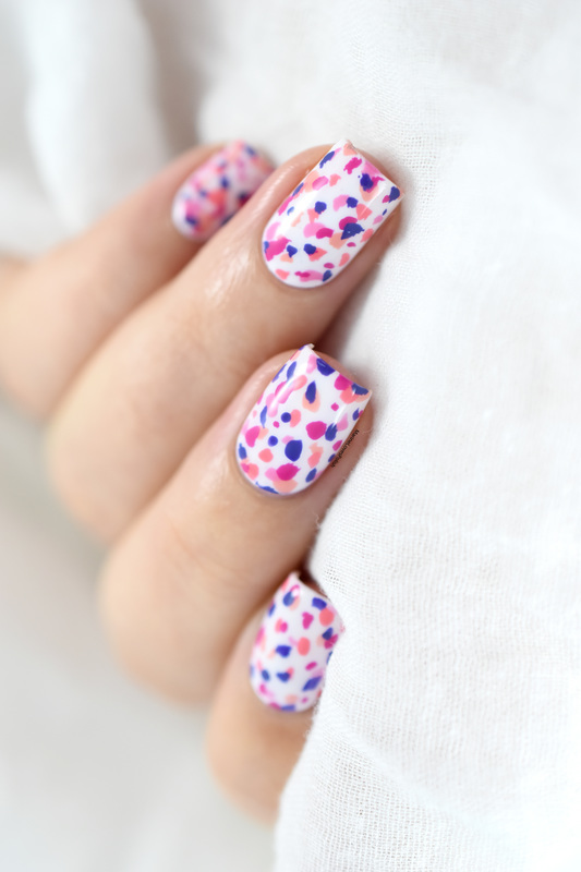Terrazzo nail art! nail art by Marine Loves Polish