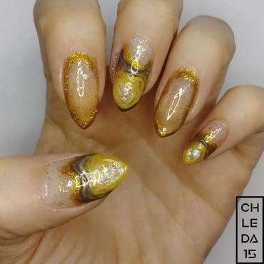 2018 #10 - It's What's on the Inside that Counts nail art by chleda15