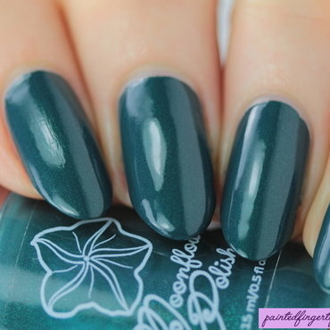 Teal moonflower polish swatch thumb370f