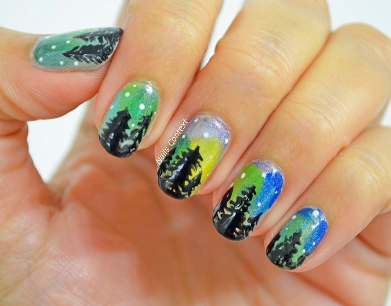 Night Sky nail art by NailsContext