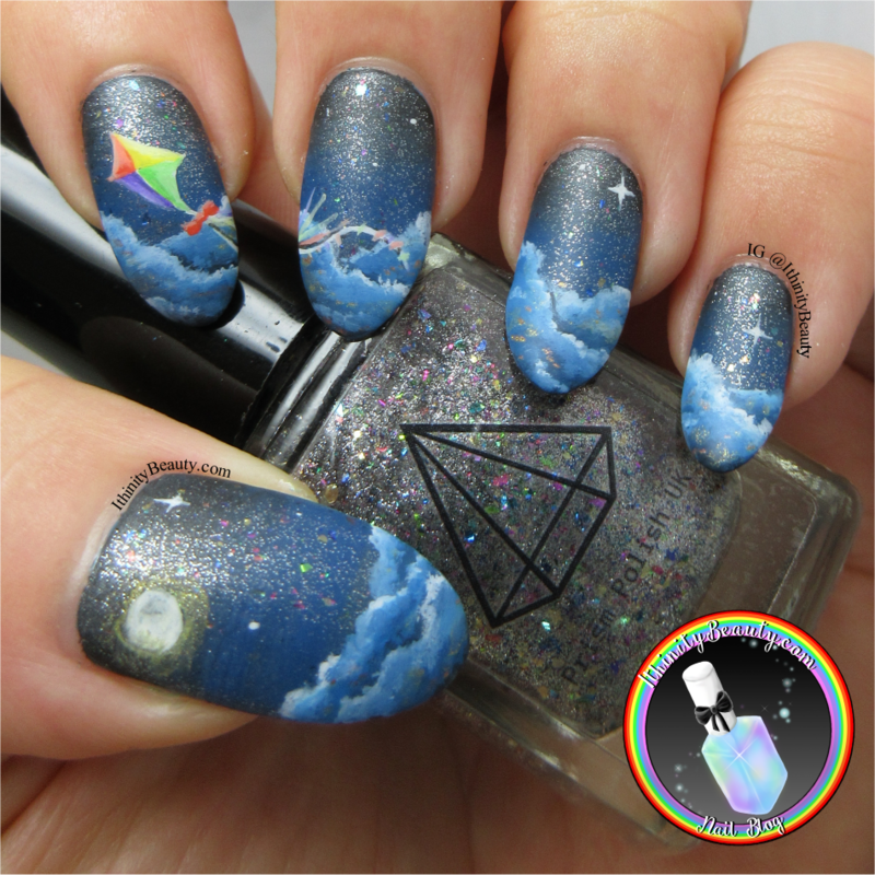 Fly Away Kite nail art by Ithfifi Williams