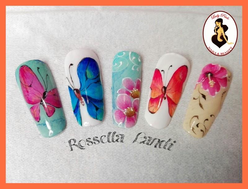 Spring nail art by Rossella Landi