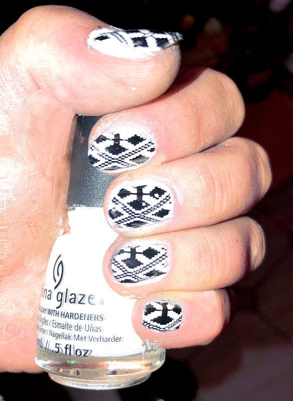 CROSS nail art by FRANCESCA SPORTELLA
