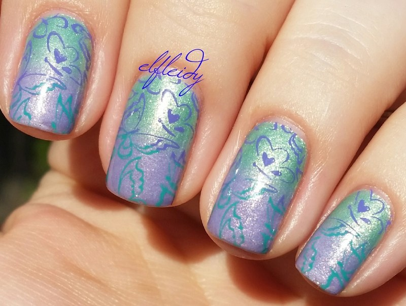 Spring butterflies nail art by Jenette Maitland-Tomblin