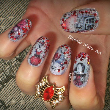 Woman's Day nail art by Elpiola Lluka