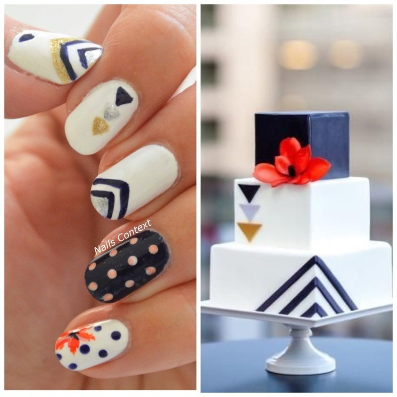 Chic Cake Inspired Nails nail art by NailsContext