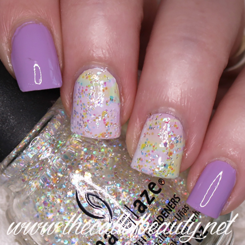 Pastel Watermarble nail art by The Call of Beauty