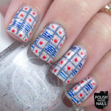Geometric Grids & Snow Cones nail art by Marisa  Cavanaugh